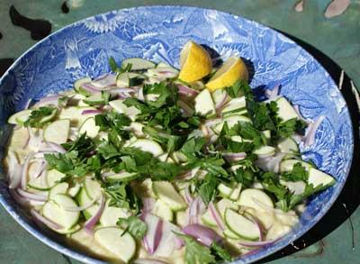 lima bean zucchini salad