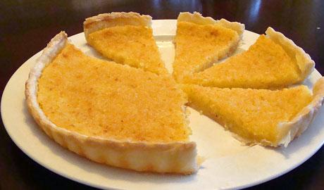 lemon chess tart
