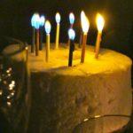 chiffon cake, birthday cake