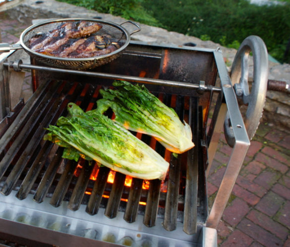 how to grill salad