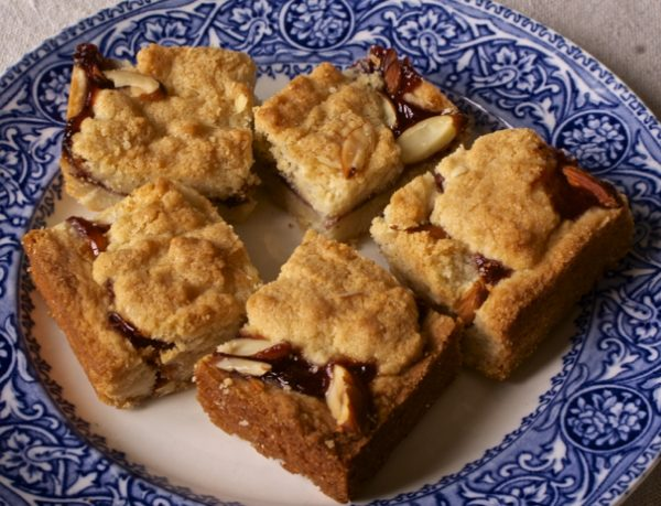 Fancy Almond Jam Bars