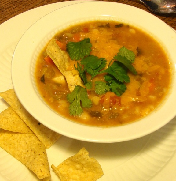 vegetable white chili features tomatoes and plenty of vegetables ...