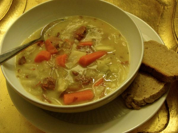 Irish boiled dinner soup is how we put the must gos to best use here