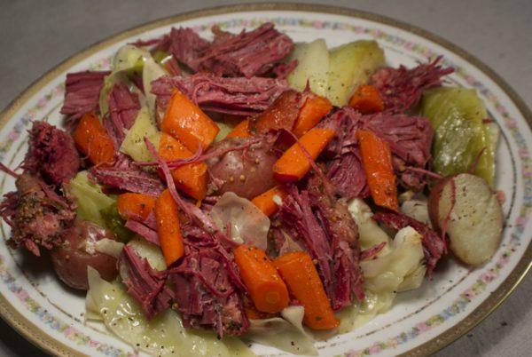 oven irish boiled dinner