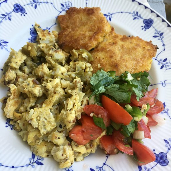cauliflower scrambled eggs