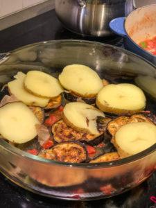 Persian Eggplant Potato Lamb Casserole