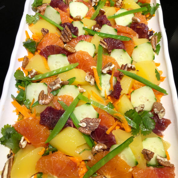 orange gelee platter salad