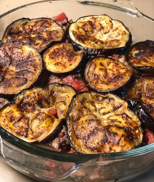 Italian Eggplant Potato Beef Casserole