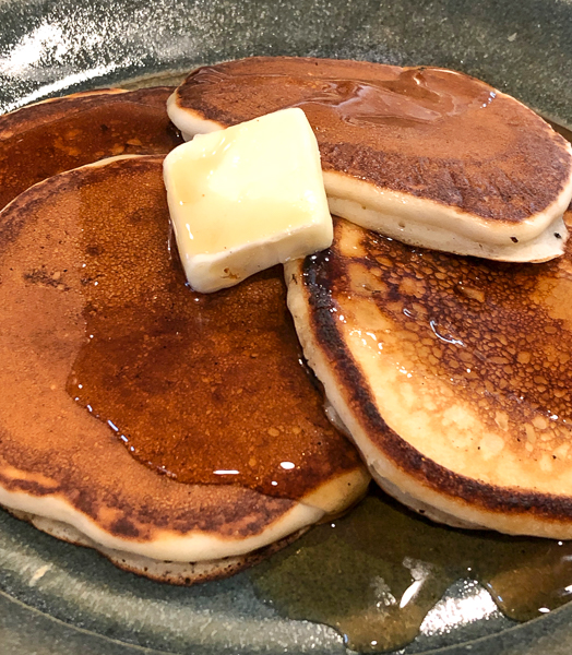 Self-rising flour pancakes